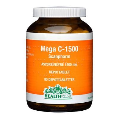 Mega C 1500 mg HealthCare - 80 tabletter