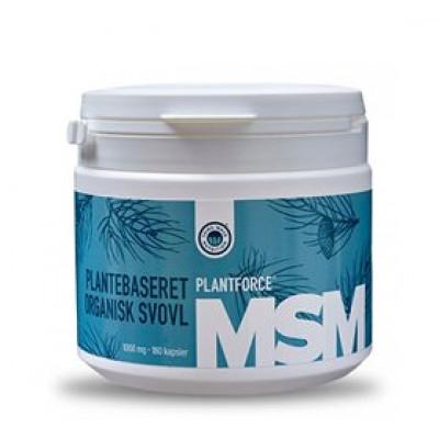 Plantforce MSM Plantforce 1000 mg plantebaseret organisk svovl • 180 kap.