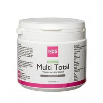 NDS Multi Total multivitamin og mineral • 250 tab.