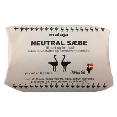 Malaja Ostrich Oil Struds sæbe neutral • 80 g.