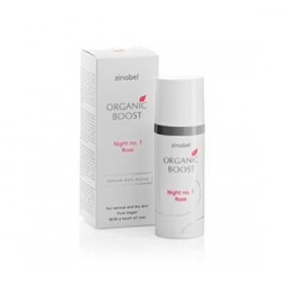 Zinobel Night no. 1 Rose natcreme Organic Boost • 50ml.