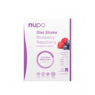 Nupo diet shake blåbær & hindbær blåbær • 384g.
