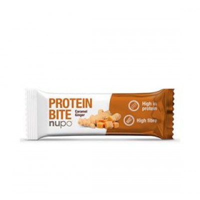 Nupo Protein bite caramel ginger • 40g.