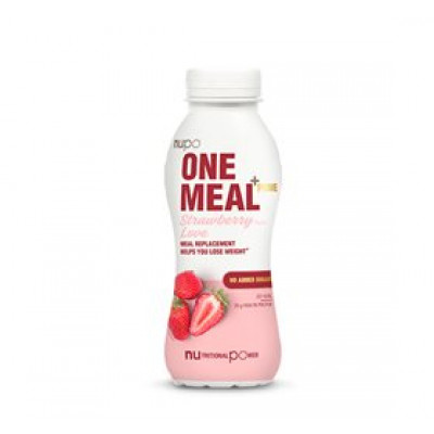 Nupo One meal + prime shake jordbær • 330ml.