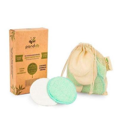 OBS Rondeller i bomuld og bambus Genanvendelige og vaskbare • 1 pk.