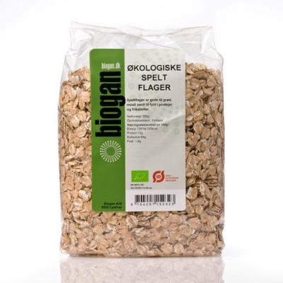 Biogan Spelt Flager Ø • 500 g.