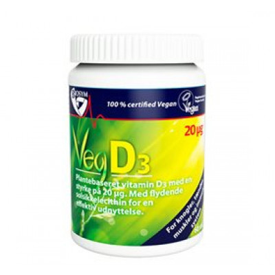 BioSym Veg D3 D-vitamin 20 mcg • 60 kap.