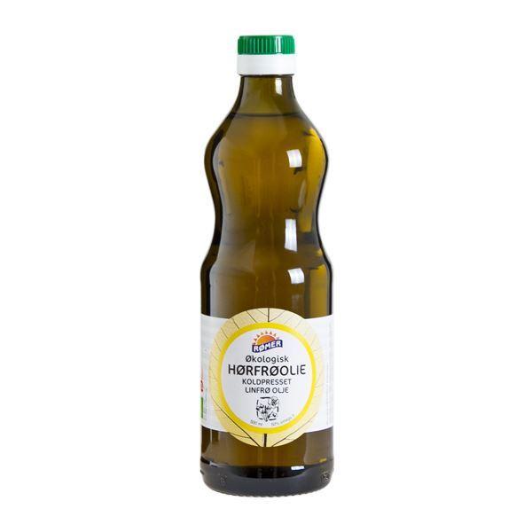 Billede af Hørfrøolie Koldpresset Ø - 500 g.