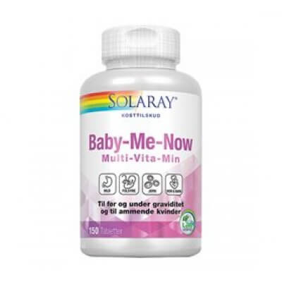 Solaray Baby Me Now Multivitamin • 150 tab.