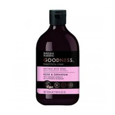 Baylis & Harding Goodness Badesæbe rose & geranium • 500ml.