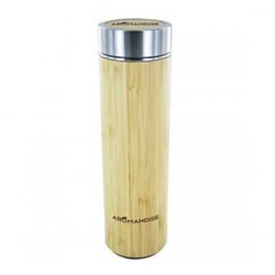 NatureSource Termoflaske m. tefilter bambus/rustfri stål 450 ml • 1 stk.