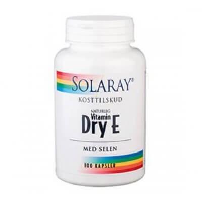 Solaray Dry E-vitamin med selen • 100 kap.