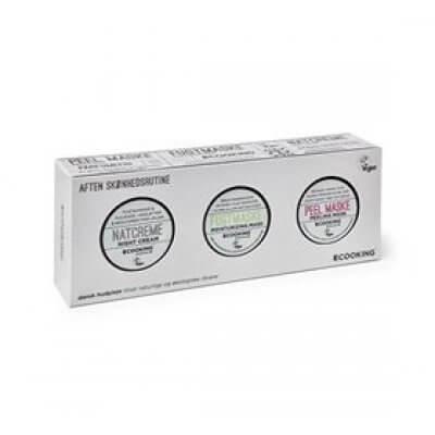 Ecooking Hudplejesæt m. natcreme 15 ml. og masker 2x 15 ml • 1pk.