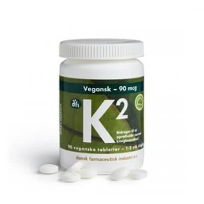 DFI K2 vitamin 90 mcg vegetabilsk • 90 tab.