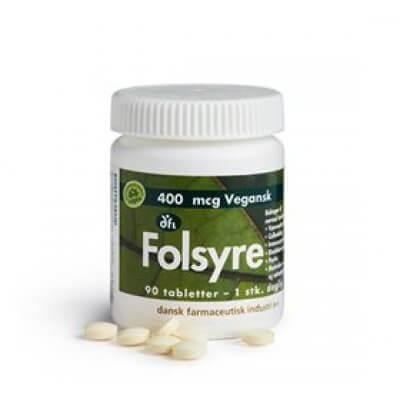 DFI Folsyre 400 mcg • 90 tab.