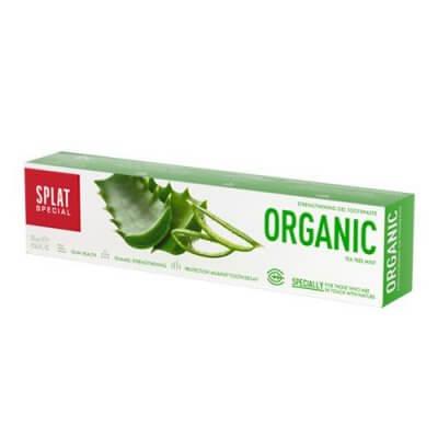 Splat Tandpasta ORGANIC med tea tree oil og aloe vera • 75ml.