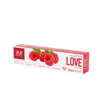 Splat Tandpasta Whitening LOVE m. hindbærsmag • 75ml.