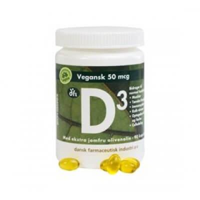 DFI D3 vitamin 50 mcg vegan • 90 kap.