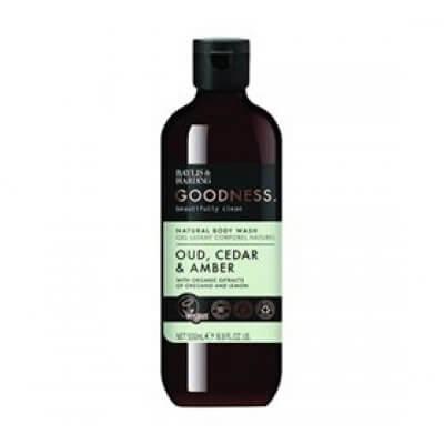 Baylis & Harding Goodness Body Wash oud, cedar & amber • 500ml.