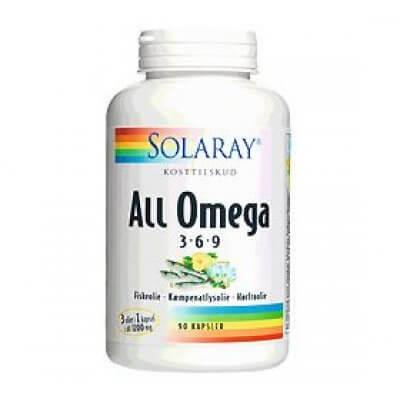 Solaray All Omega 3-6-9 - 90 kaps.