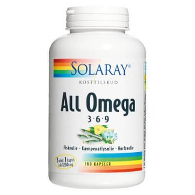 Solaray All Omega 3-6-9 - 180 kaps.