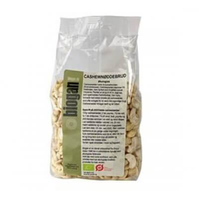 Biogan Cashewnødder i brud Ø • 500g.