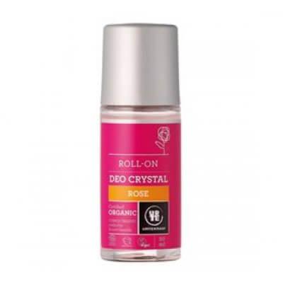 Urtekram Deo krystal roll on Rose • 50ml.