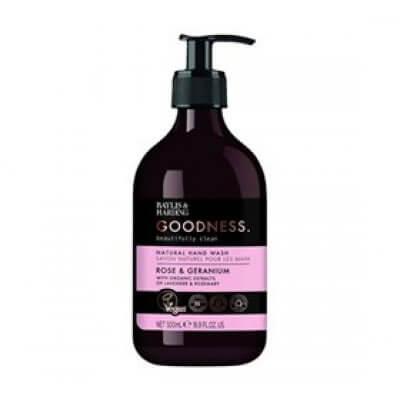 Hand Wash rose & geranium Baylis & Harding Goodness • 500ml.