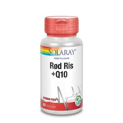 Solaray Rød ris & Q10 60 stk